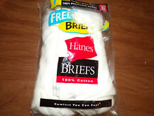 Hanes men 100% Preshrunk Cotton Briefs White 7 Pk. Size 38