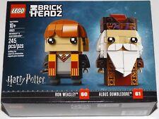 LEGO 41621 BrickHeadz Ron Weasley & Albus Dumbledore 60 & 61 Harry Potter