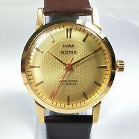 Vintage Hmt Sona Mechanical Hand Winding Movement Mens Analog Wrist Watch A200
