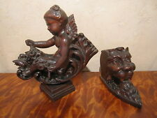 1880,S   CARVED CHERUB ON A BASE