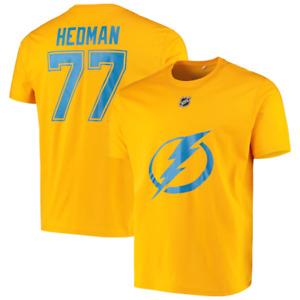 Tampa Bay Lightning T-Shirt Fanatics Men's NHL Hedman 77 T-Shirt - Gold - New
