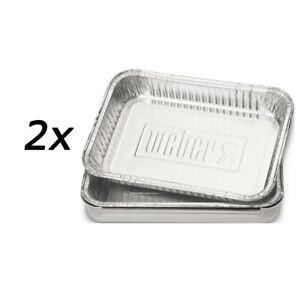 Weber Alu-Tropfschalen klein, 20 Stück Vorteilspack Grillschale BBQ Zubehör