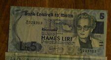 More details for l.1967 (1986) banknote malta 5 liri