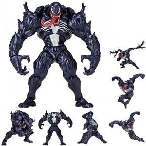 Venom Series PVC Revoltech Action Figure Model Collection Toy Marvel Spider Man'