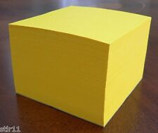 "Note Paper Cube - PADDED CUBE  ""Astrobright Solar Yellow"" 3 1/2 x 3 1/2"