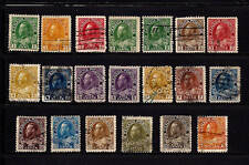 Canada-1911-25-SC 104-122,107a&112a-H & Used-George V