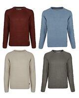Smith & Jones New Men's Crew Knit Sweater Acrylic Pullover Jumper S M L XL Top