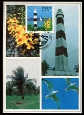 Motiv-Leuchtturm, Maxicard aus Brasilien mit Leuchtturm  13/1/14