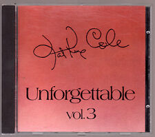 "NAT KING COLE CD ""UNFORGETTABLE"" VOL. 3"