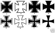Iron Cross Aufkleber 8 Motive Eisernes Kreuz 20X20cm !