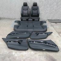 BMW 3 Serie 1 E90 Nero Pelle Sedili Interni con Airbag E Porta Carte