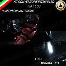 KIT FULL LED INTERNI FIAT 500 PLAFONIERA ANTERIORE+BAGAGLIAIO 6000K