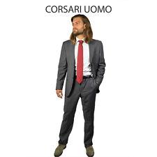 Abito uomo sartoriale lana grigio angelico corsari napoli cod 525 tg. 56