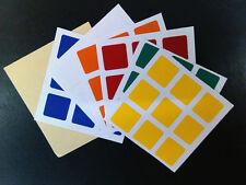 Free shipping 3x3x3 Magic cube PVC Replace Stickers 7787C