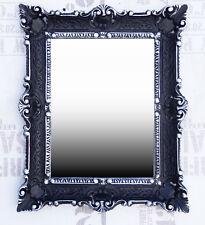 Wall Mirror 56x46 Black Silver Antique Baroque Repro Hall Bathroom Mirror 1
