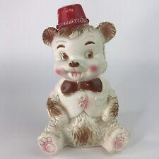 Edward Mobley Co Arrow Rubber Vintage Squeak Bear Toy Red Hat Vest Bowtie
