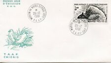 FDC / T.A.A.F. TERRES AUSTRALES TIMBRE pa N° 67 / FAUNE /