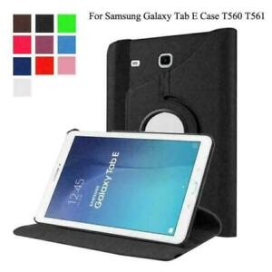 360 Rotating Leather Case Cover For Samsung Galaxy Tab E 9.6 Inch T560 / T561