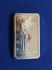 1973 Columbus Mint CM-1N Columbus Day Santa Maria Nickel-Silver Art Bar E5141