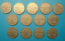 CANADA 5 CENTS  SET 1922 TO 1936 (NO 1925-26)