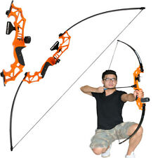 30lbs Outdoor Archery Fishing Bow Hunting Takedown Straight Bow Target Orange