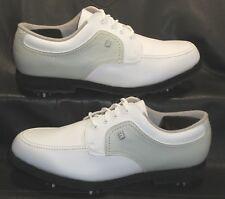 FootJoy GreenJoys 48704 white & gray lace ups oxfords Women's shoes size 9 1/2 M