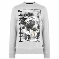 Mens Firetrap Photo Crew Sweatshirt Sweater Long Sleeve New