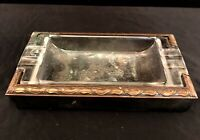 Art Deco Hyde Park Brass Ashtray With Insert Vintage