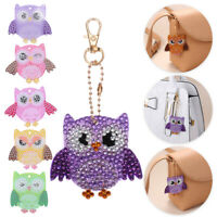 5pcs Full Drill Special Shaped Diamond Painting Owl Keychain Bag Pendant Gift