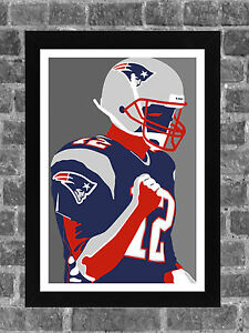 New England Patriots Tom Brady Portrait Sports Print Art 11x17