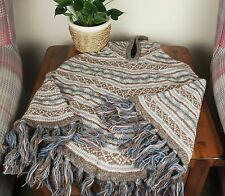 Handmade Woollen Poncho Warm Cardigan