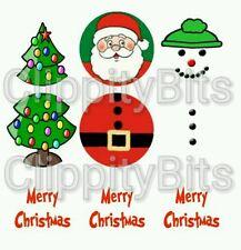 "48 x 1"" Inch Pre Cut Bottle Cap Images Christmas Xmas Keyring Link Decorations"