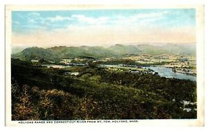 Holyoke Range and Connecticut River from Mt. Tom, Holyoke, MA Postcard *237