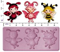 FAIRY / FLUTTERBUGS Small Craft Sugarcraft Fimo Sculpey Silicone Rubber Mould