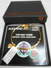 Alex and Ani Charity By Design THE WAY HOME Bracelet Silver Plated NWTB & C