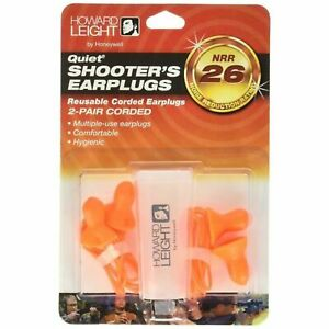 Howard Leight R-01522 Quiet Corded Ear Plugs w Carrying Case 2 pr