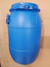 30 litre barrel open top plastic keg drum water kayak butt feed bin -  lid lock