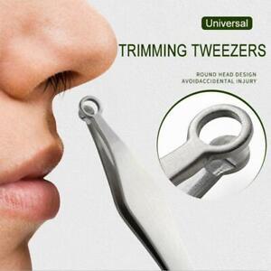 Universal Nose Hair Trimming Tweezers Round Tip Stainless Steel Eyebrow Hair Cut