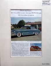 Original Vintage motor car Advert mounted for framing USA DeSoto Firedome 1953