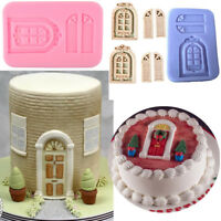 1X 3D Doors and Windows Silicone Fondant Mold Cake Clay Resin sugar Candy Decor