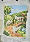 """""""3 Billy Goats"""" hand-painted Penelope needlepoint canvas Norway 15""""x18"""""""