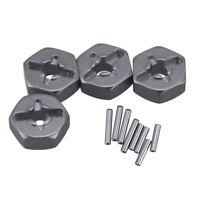 3X(Aluminum Alloy 12mm Combiner Wheel Hub Hex Adapter Upgrades for Wltoys 1 T4J9