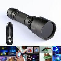 15W 4 LED 365nM UV Blacklight Flashlight Ultraviolet Diamond Filter Torch Lamp