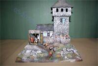Mittelalter, Ritter-Turmburg Remwehr, mit Haus 3083, zu 7cm