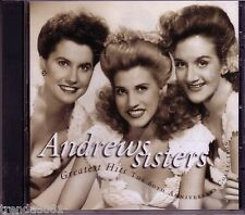 ANDREWS SISTERS Greatest Hits 60th Anniversary Collection CD 40s 50s NEAR YOU