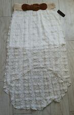 NWT Nobo No Boundaries Hi-Low Lace Skirt size large L 11/13 new with tags/ivory