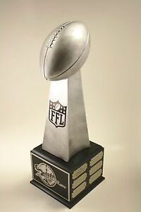 """FANTASY FOOTBALL TROPHY 19"""" 18 YEAR LOMBARDI-  FREE ENGRAVING!  SHIPS IN 1 DAY!"""