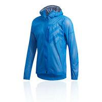 adidas Mens Terrex Agravic Rain Jacket Top - Blue Sports Running Full Zip Hooded