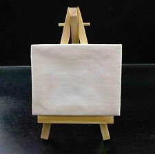 Mini Wooden Easel and Blank Stretched Canvas Display Item for Advertising or Art