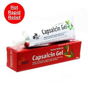 Capsaicin Gel Pain Relief Hot Capsicum 30g Muscular Arthritis